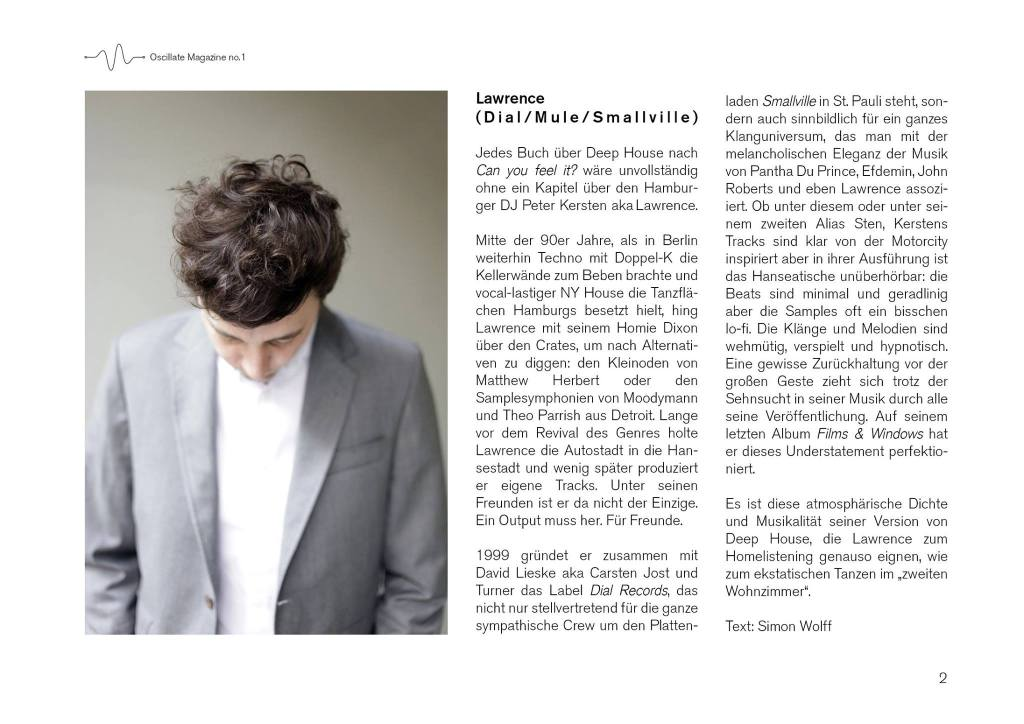 oscillate magazin no 1 - lawrence